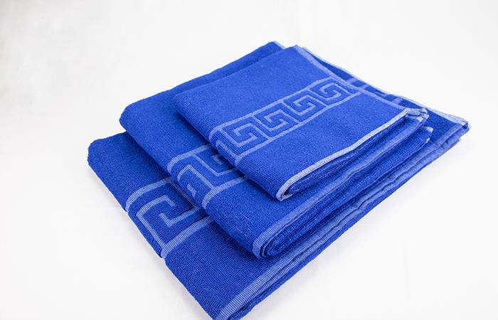 Toallas-forma-azul